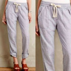 Hei Hei Anthropologie Linen Cotton Pants SM Blue
